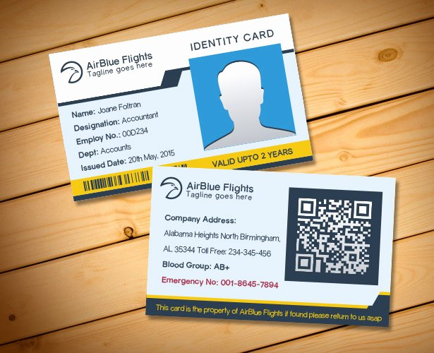 2 Free Pany Employee Identity Card Design Templates