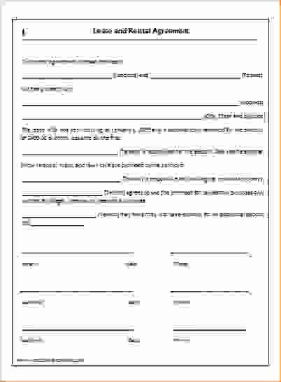 2 Simple One Page Lease Agreementreport Template Document