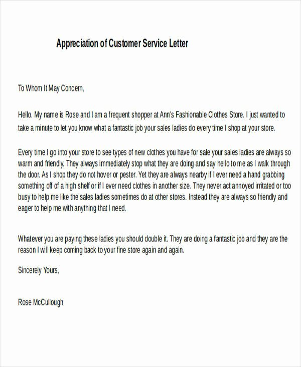 20 Appreciation Letters In Doc