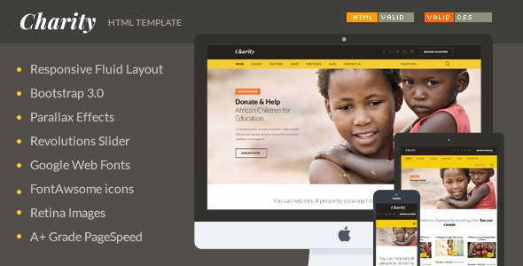 20 Awesome Charity Non Profit HTML Website Templates 2015