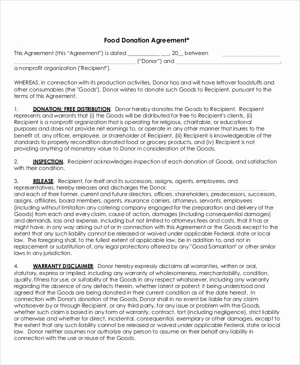 20 Awesome Sample Donation Agreement Letter