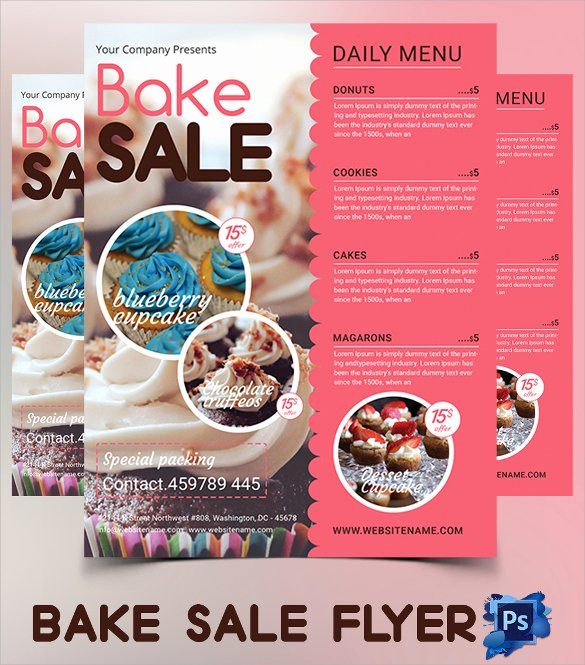 20 Bake Sale Flyer Templates