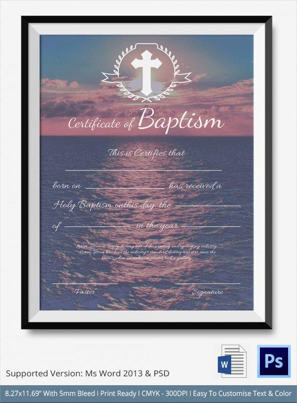 20 Baptism Certificates