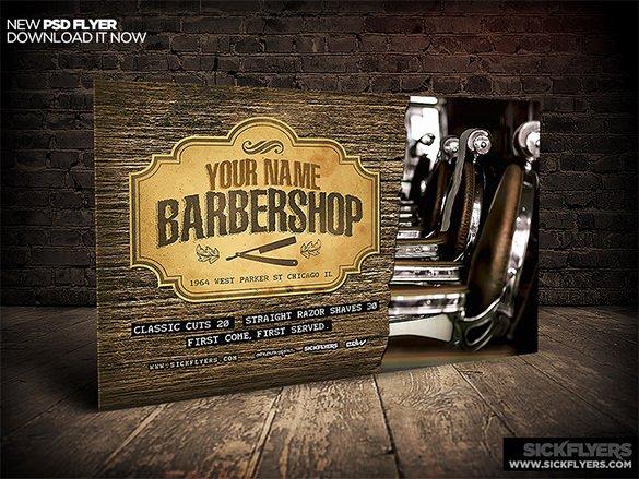 20 Best Barbershop Flyer Template & Design