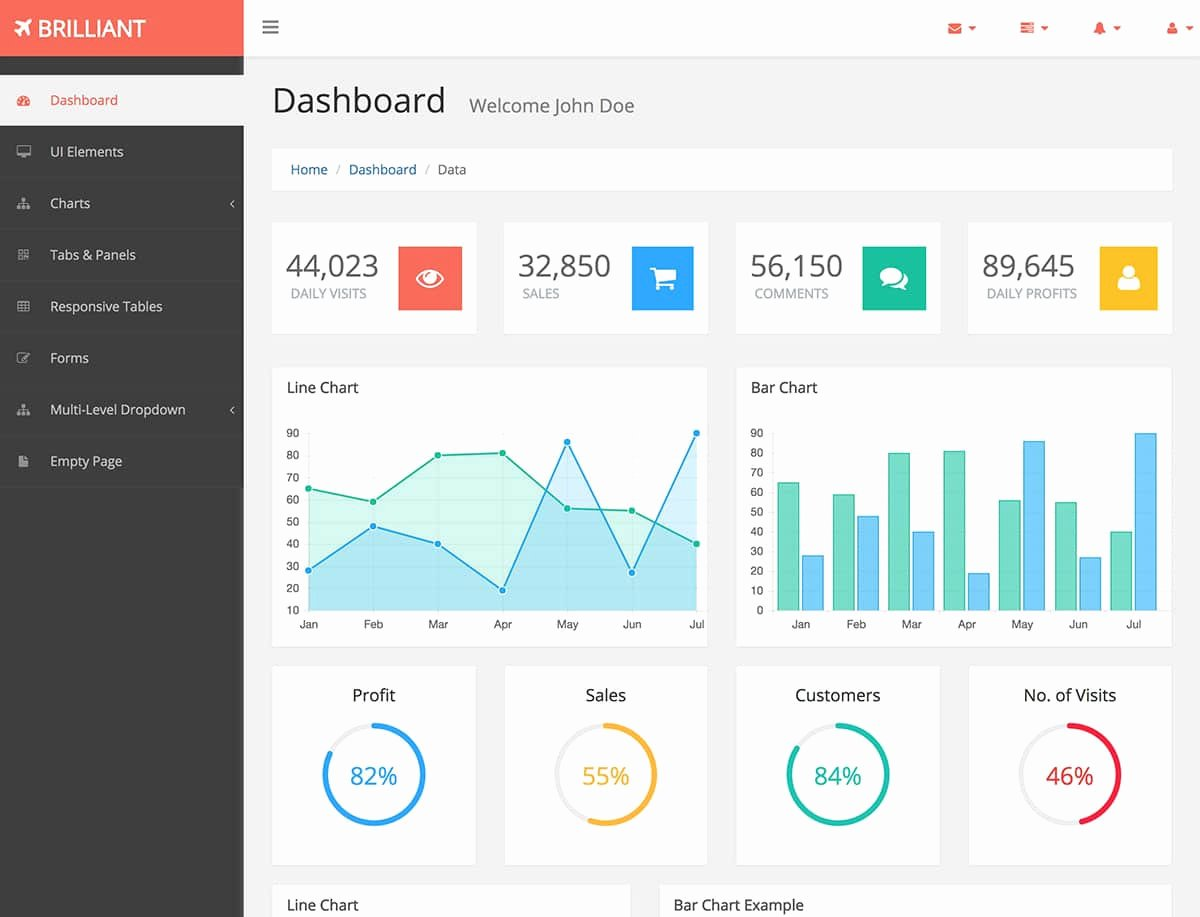 20 Best Free Bootstrap Admin Templates 2018 themelibs