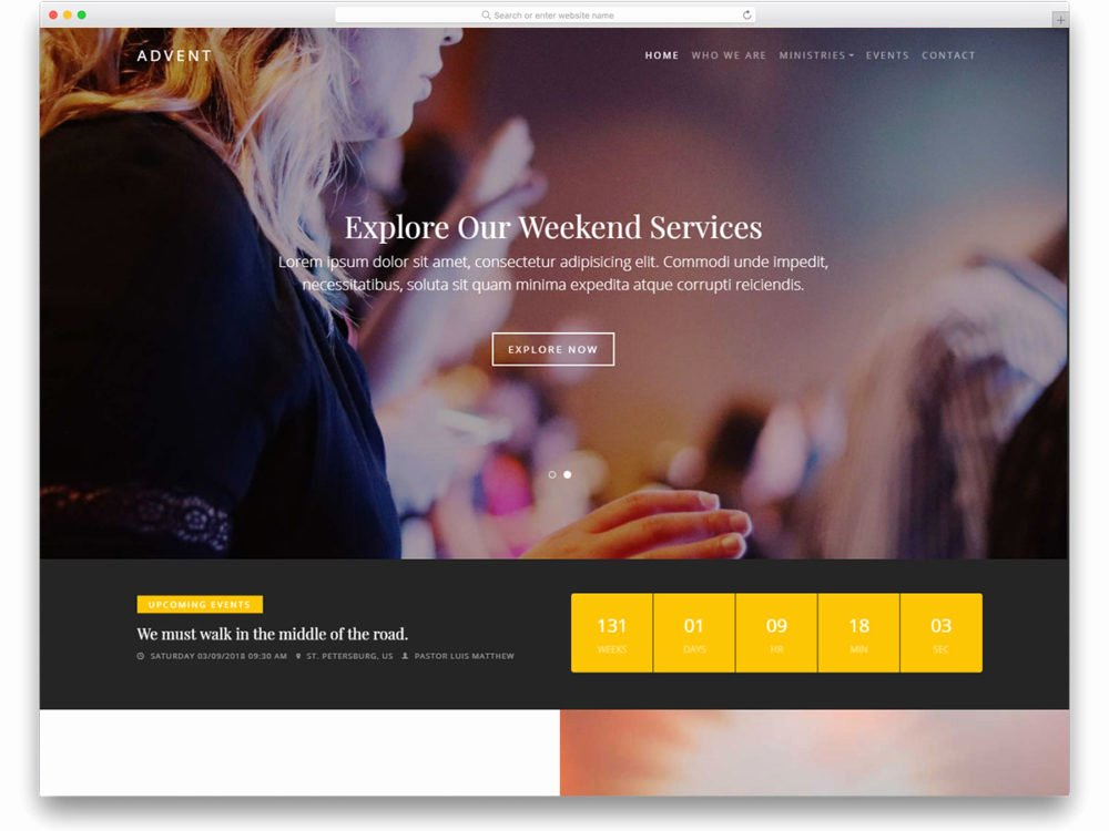 20 Best Free Church Website Templates to Preach Gospel