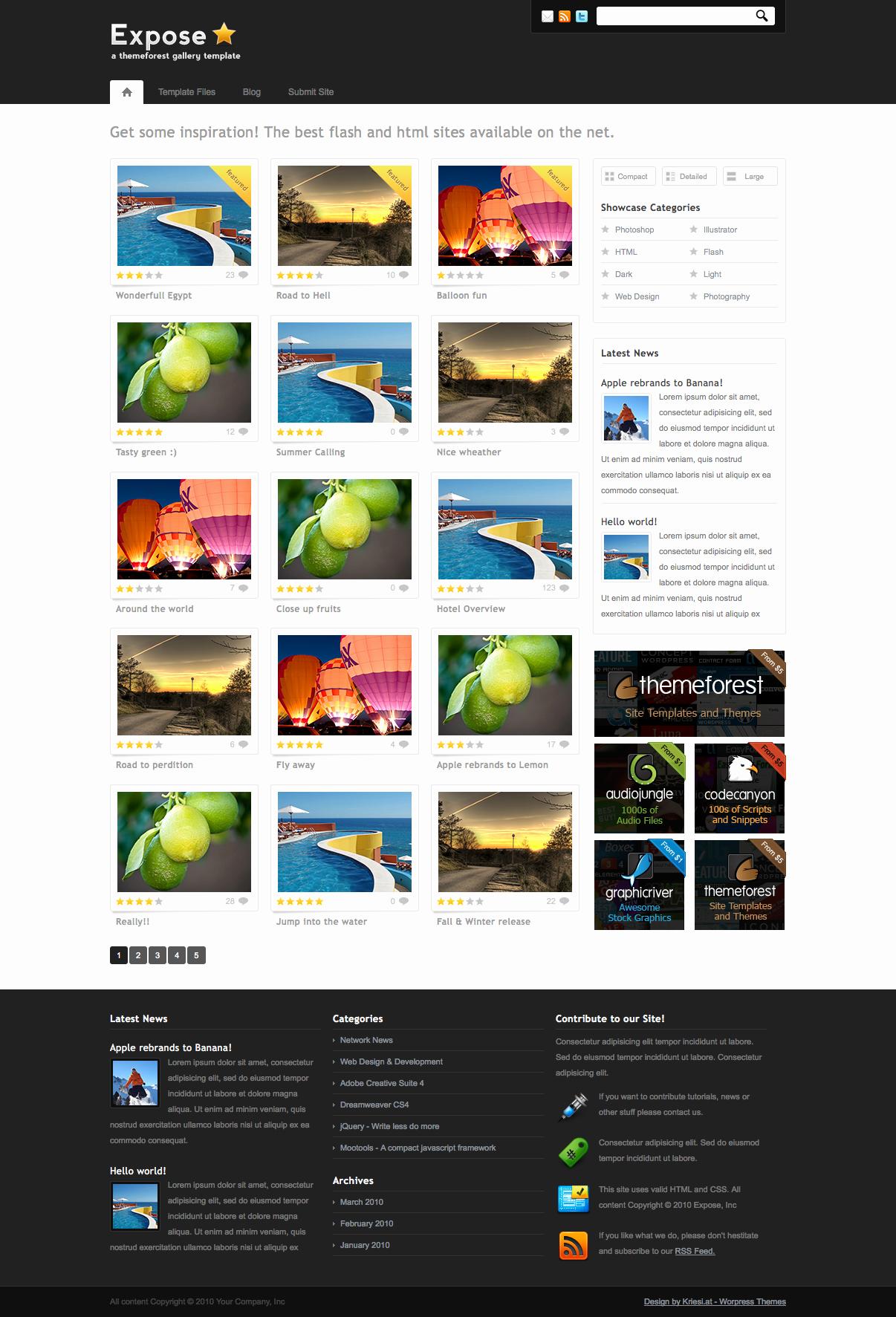 20 Best Gallery Wordpress themes themes4wp