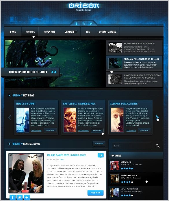 20 Best Game Website themes & Templates