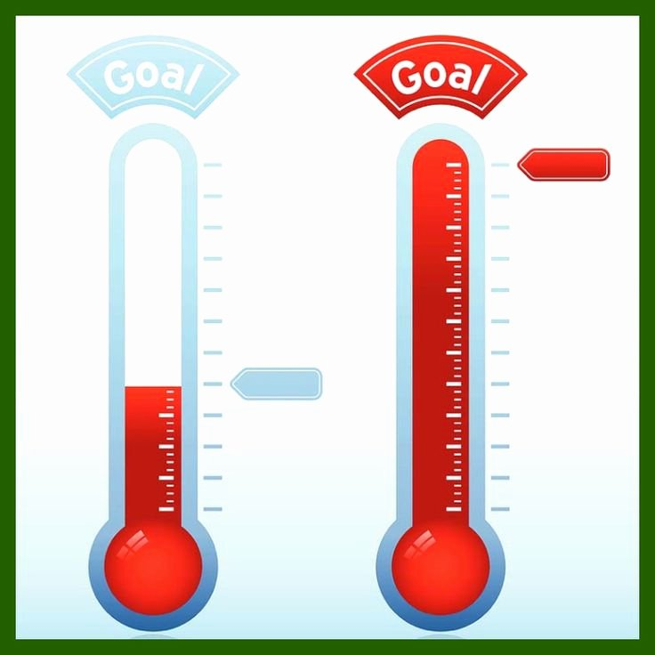 20 Best Goal thermometer Images On Pinterest