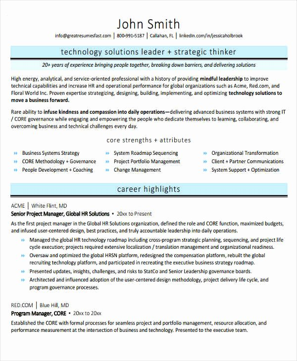 20 Best It Resume Templates Pdf Doc