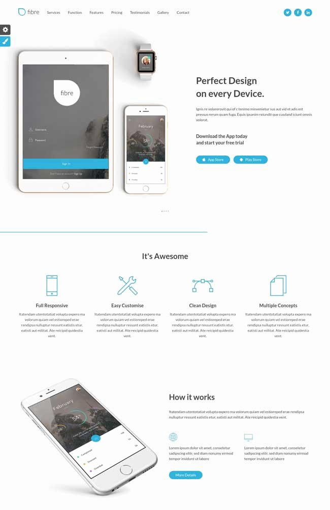 20 Best Mobile App Landing Page Templates 2016