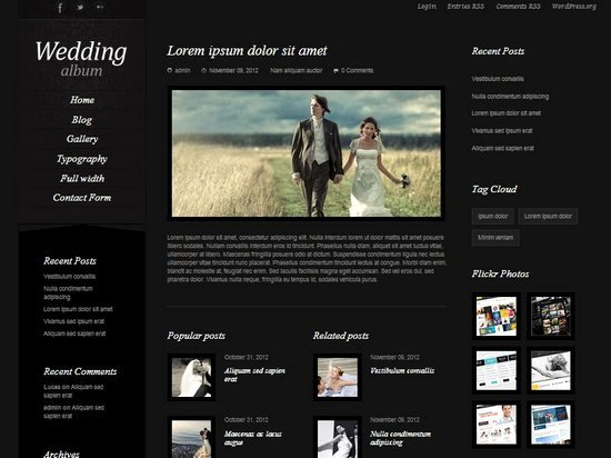 20 Best Wedding Website Templates Css HTML & Wordpress