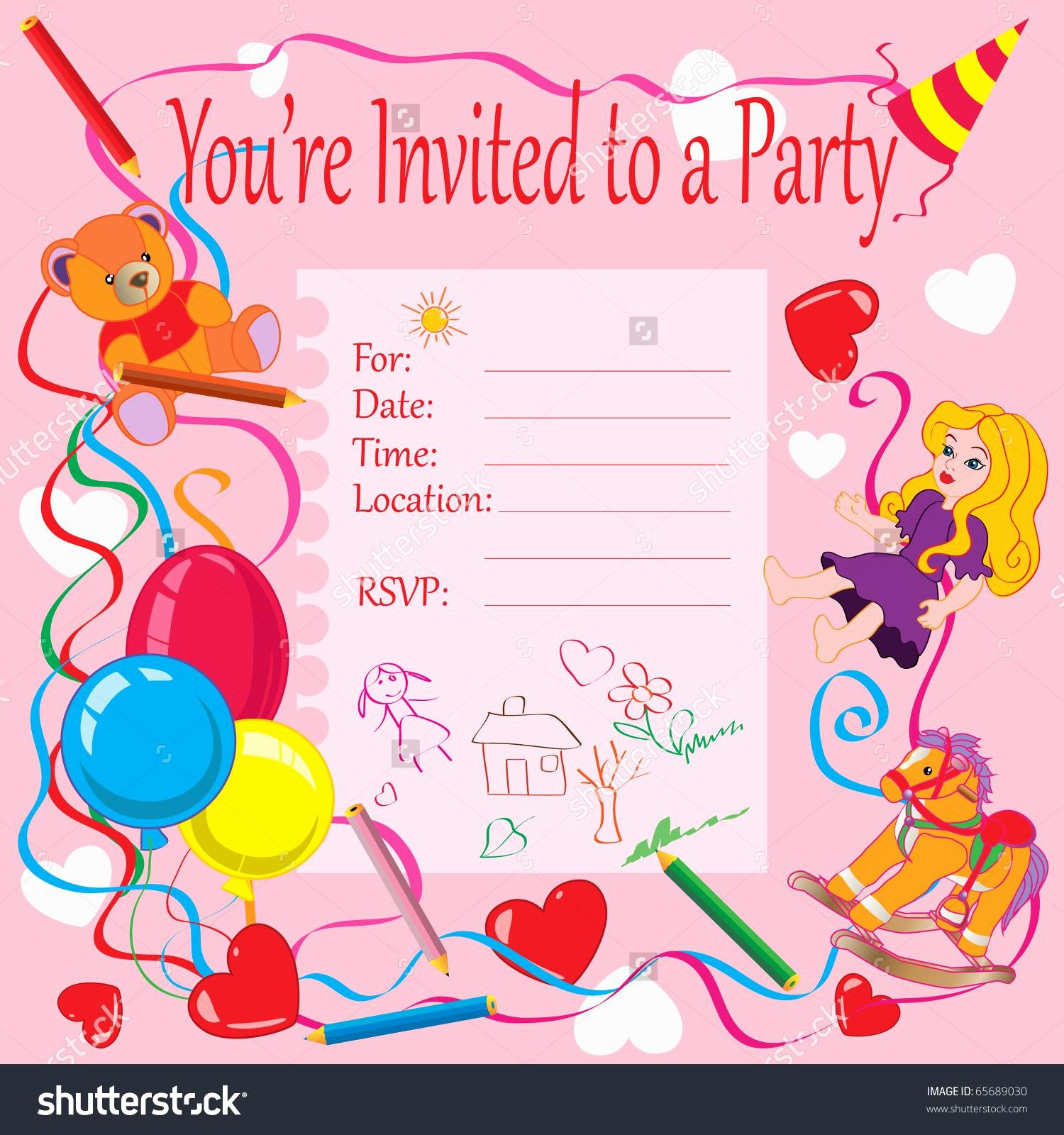20 Birthday Invitations Cards – Sample Wording Printable