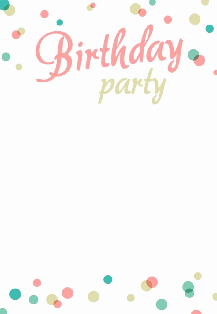 20 Birthday Party Invitation Templates
