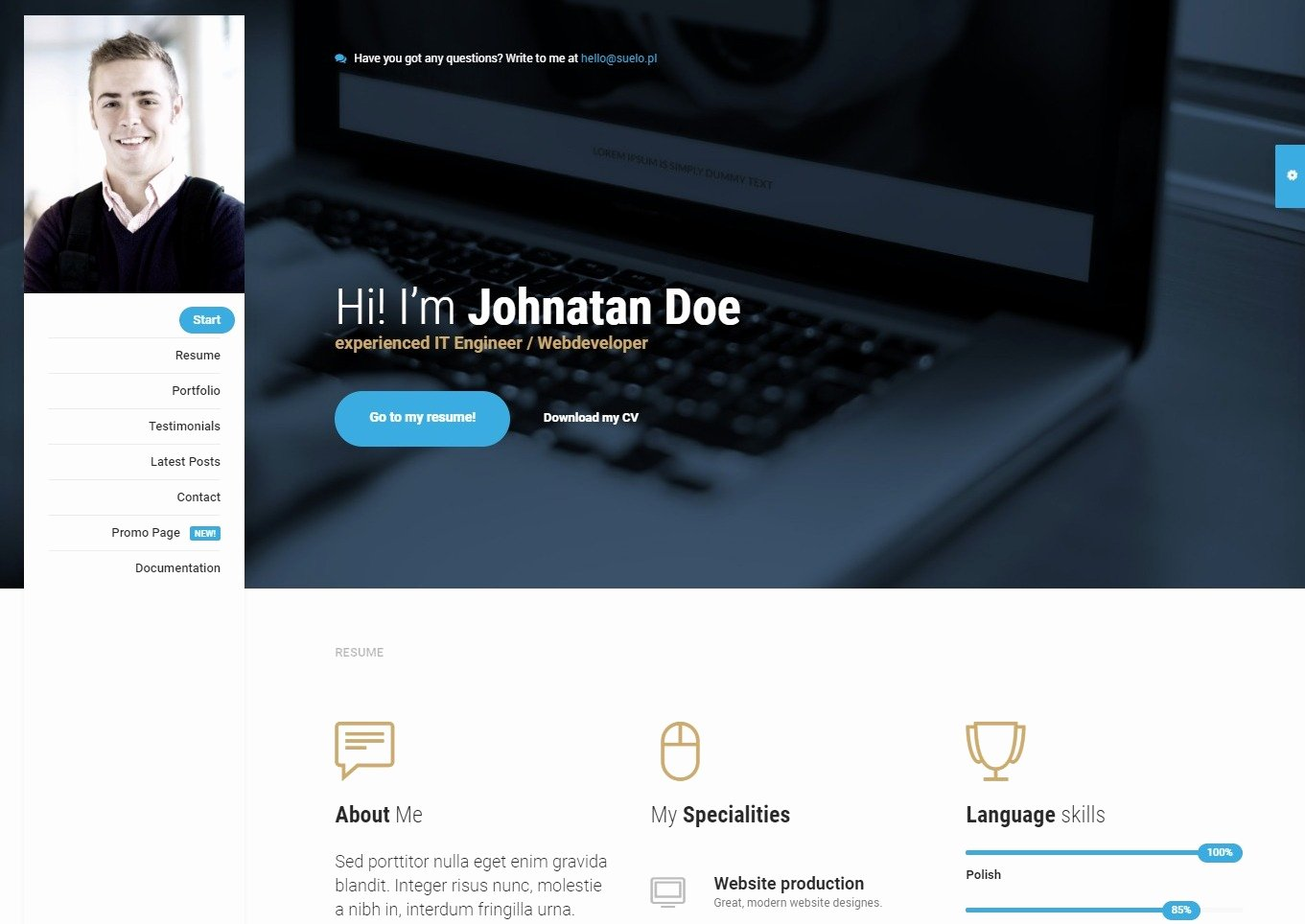 20 Bootstrap HTML Personal Website Templates for Creative