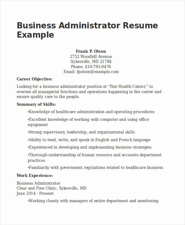 20 Business Resume Templates Pdf Doc