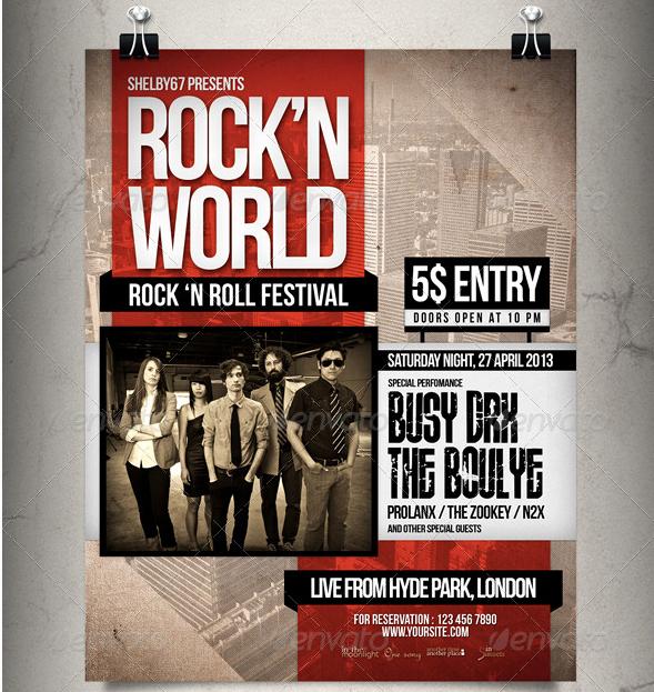 20 Concert Poster & Flyer Templates