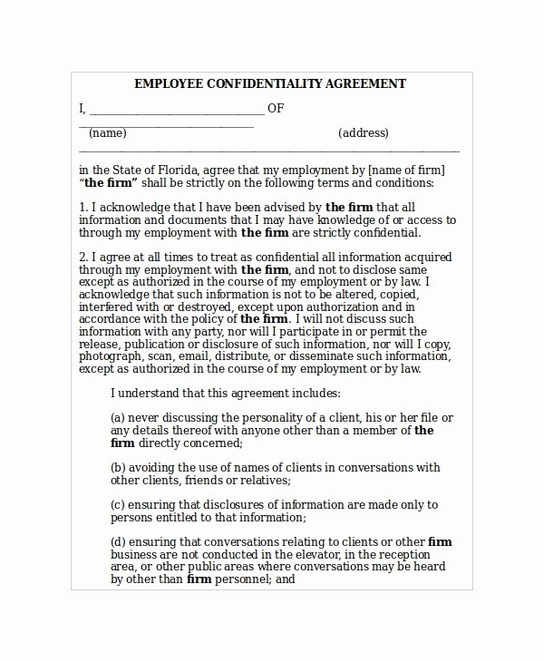 20 Confidentiality Agreement Templates Free Sample