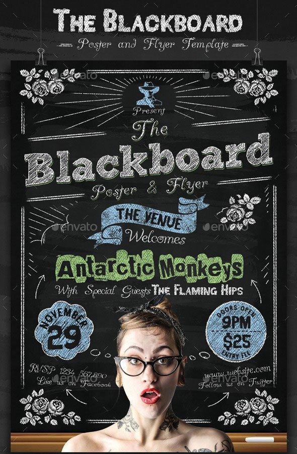 20 Cool Chalkboard Flyer Templates Print