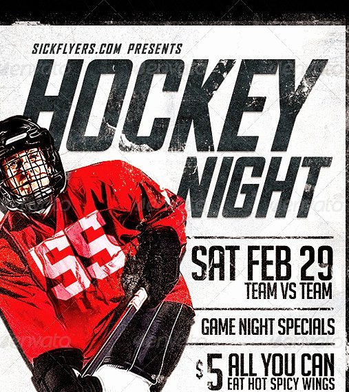 20 Cool Hockey Flyers Templates