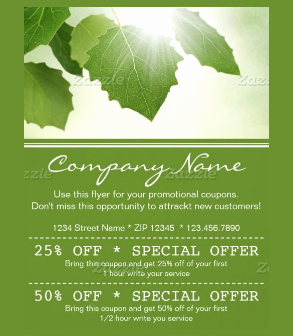 20 Coupon Flyer Templates Psd Indesign