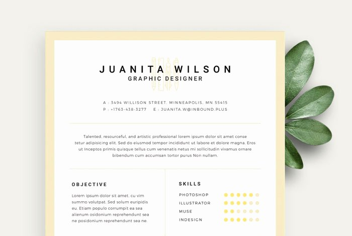 20 Creative & Simple Resume Templates for Designers