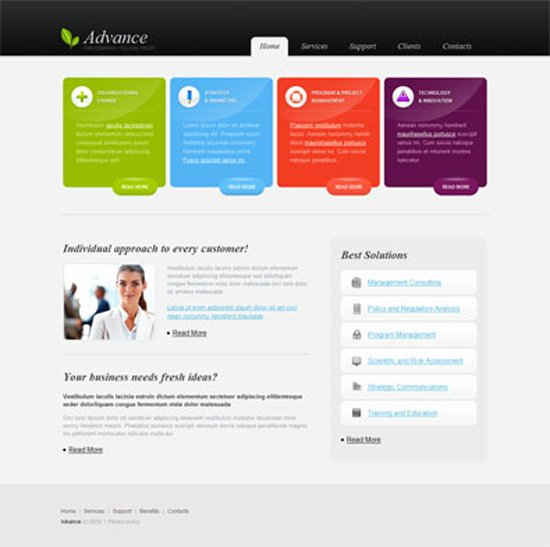 20 Creative Web Templates for Free Download