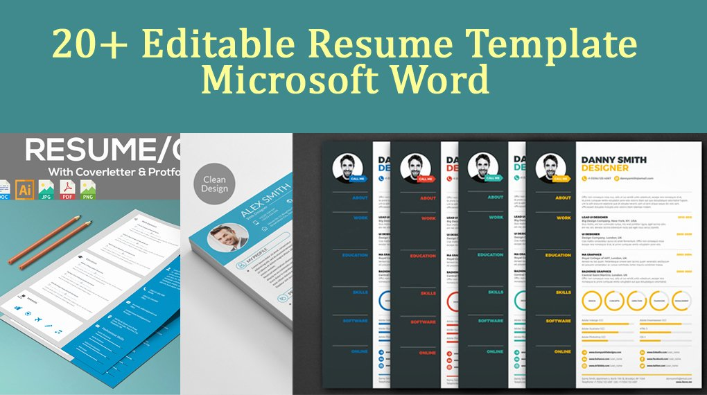 20 Editable Resume Template Microsoft Word Download now