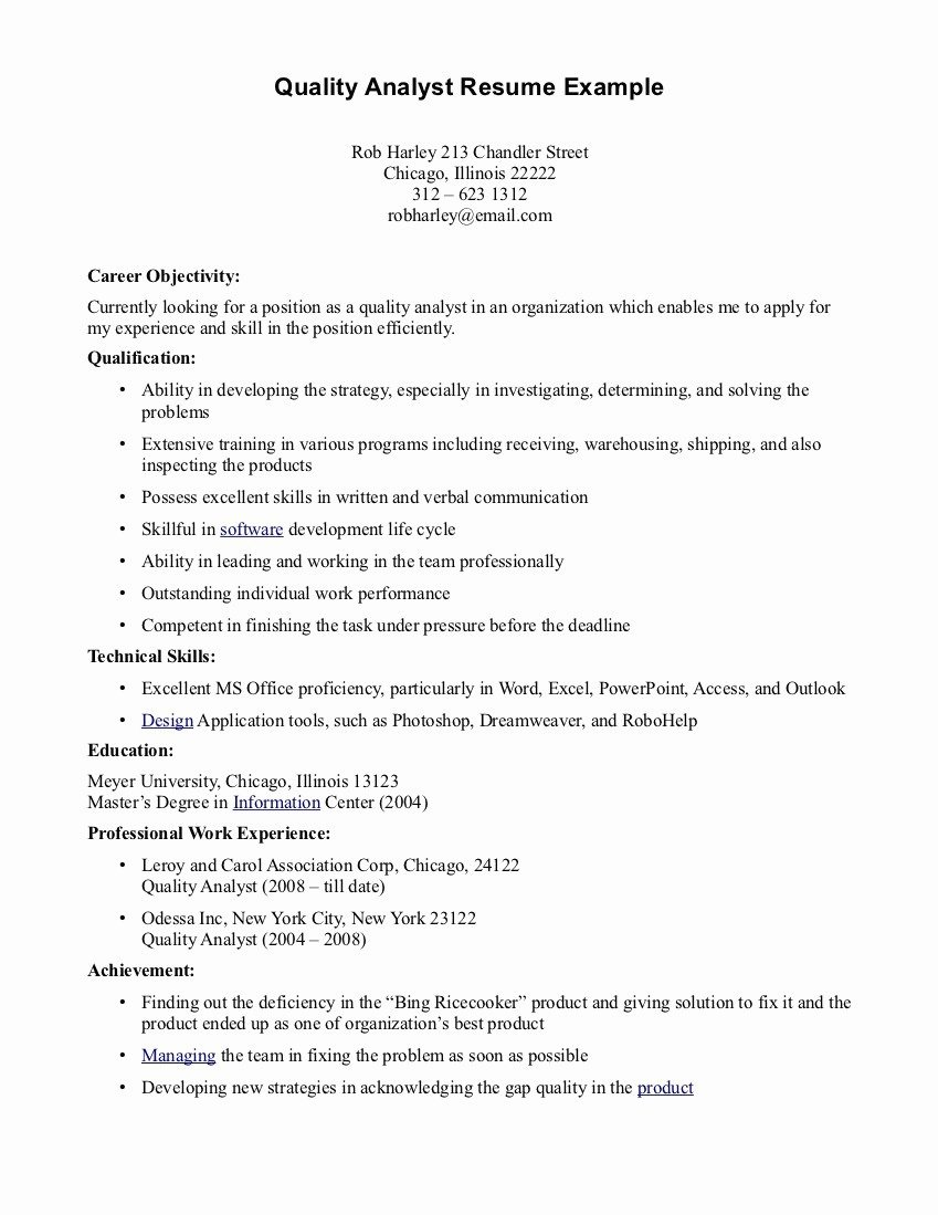 20 Entry Level Data Analyst Resume Example