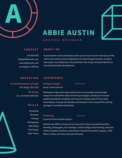 20 Eye Catching Designer Resume Templates to Get A Job