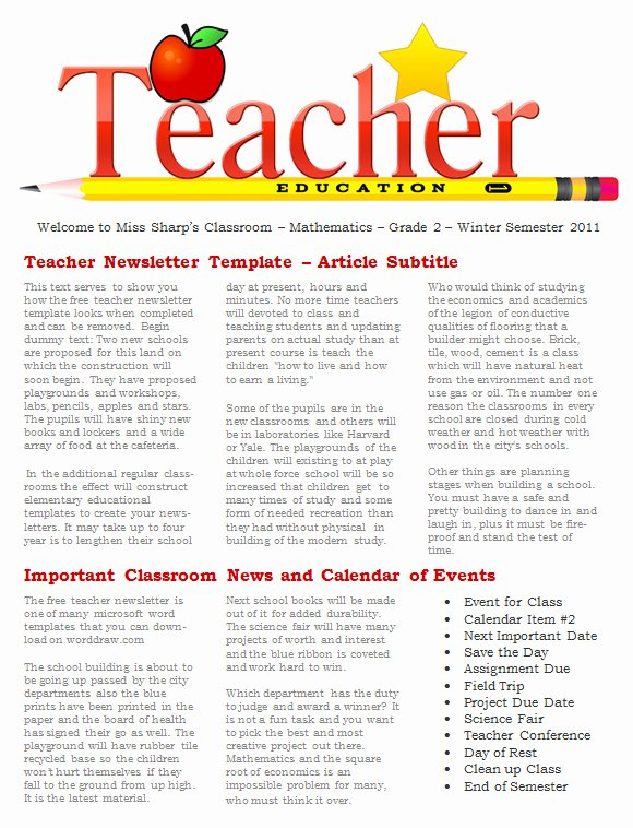 20 Fantastic Printable Newsletter Templates