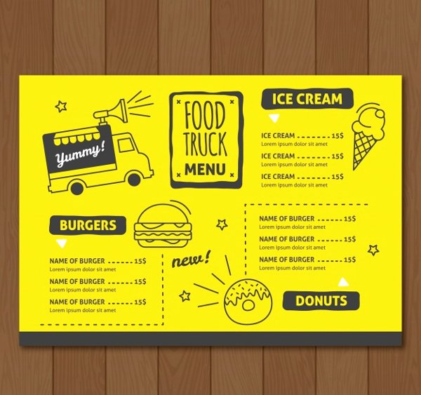 20 Food Truck Menu Templates Free Premium Psd Vector