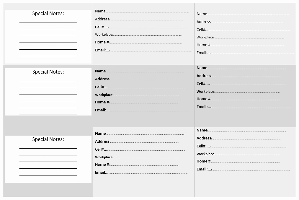 20 Free Address Book Templates Word Templates