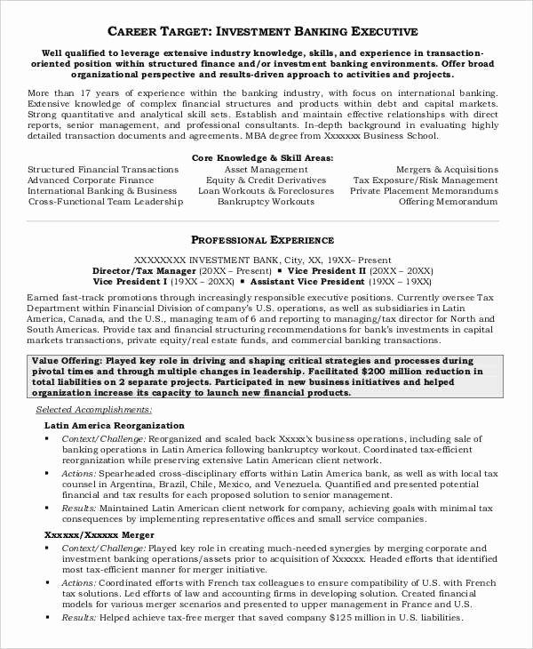 20 Free Banking Resume Templates Pdf Doc