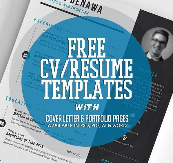 20 Free Cv Resume Templates 2017 Freebies