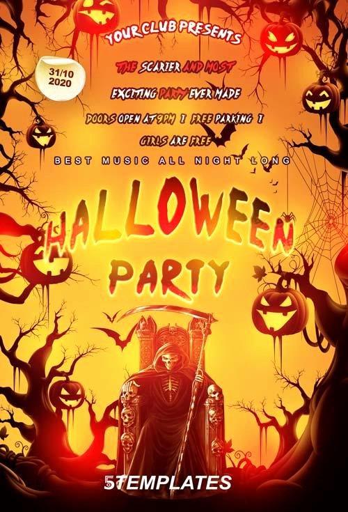 20 Free Halloween Flyers Psd Templates