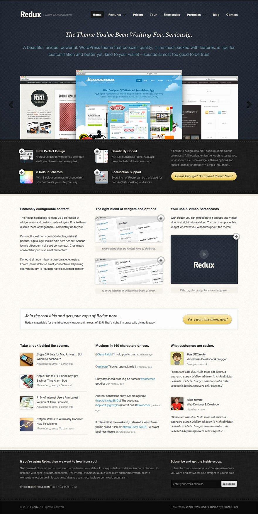 20 Free High Quality Website Shop Templates