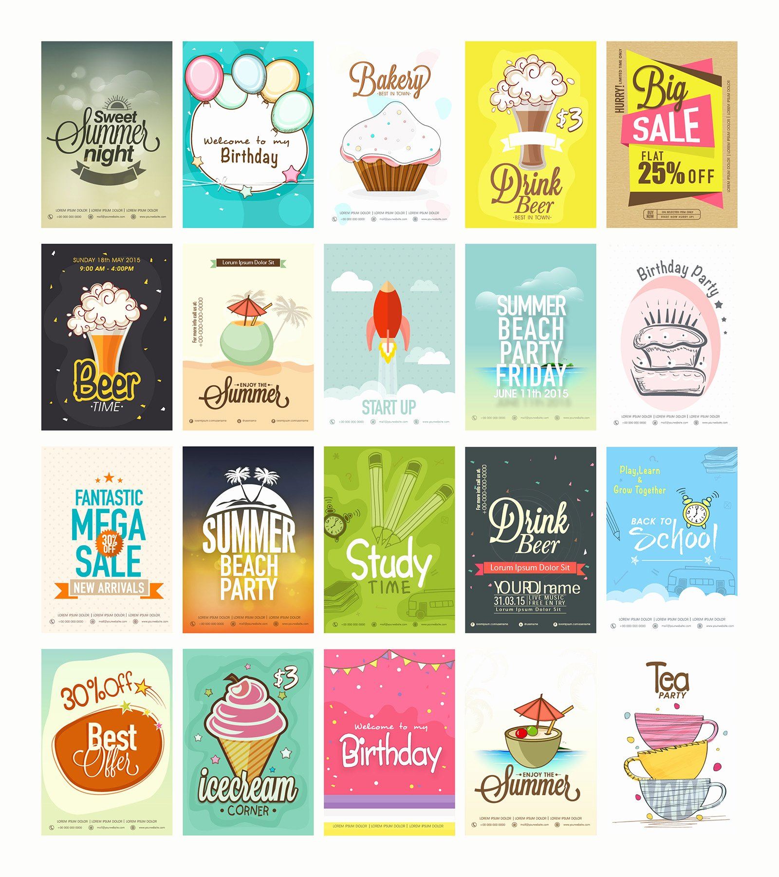 20 Free Printable Flyers Collection Graphic Google