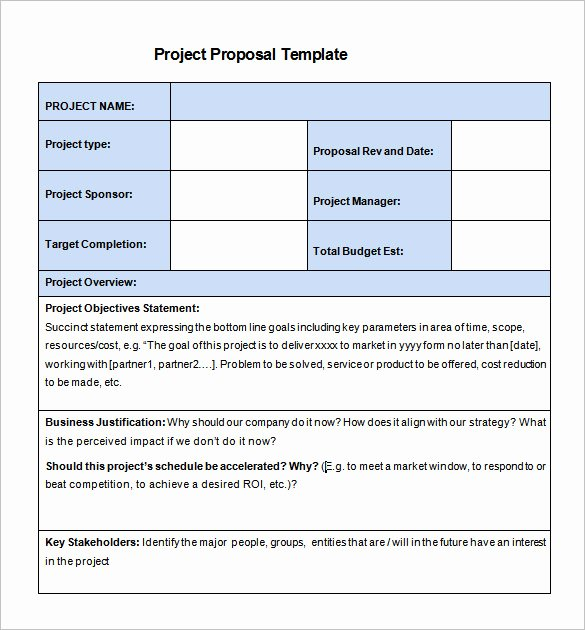 20 Free Project Proposal Template Ms Word Pdf Docx