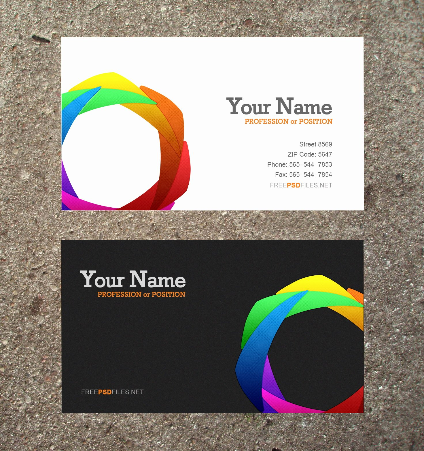 20 Free Psd Business Card Templates Free Business