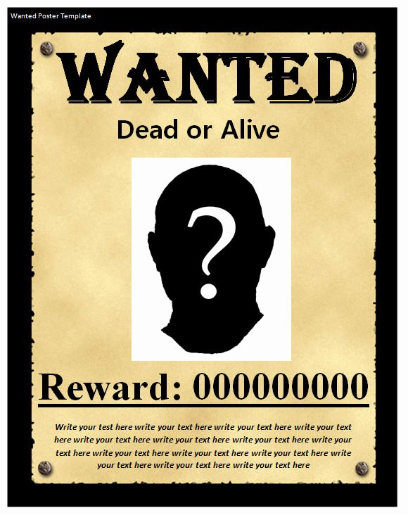 20 Free Wanted Poster Templates to Download