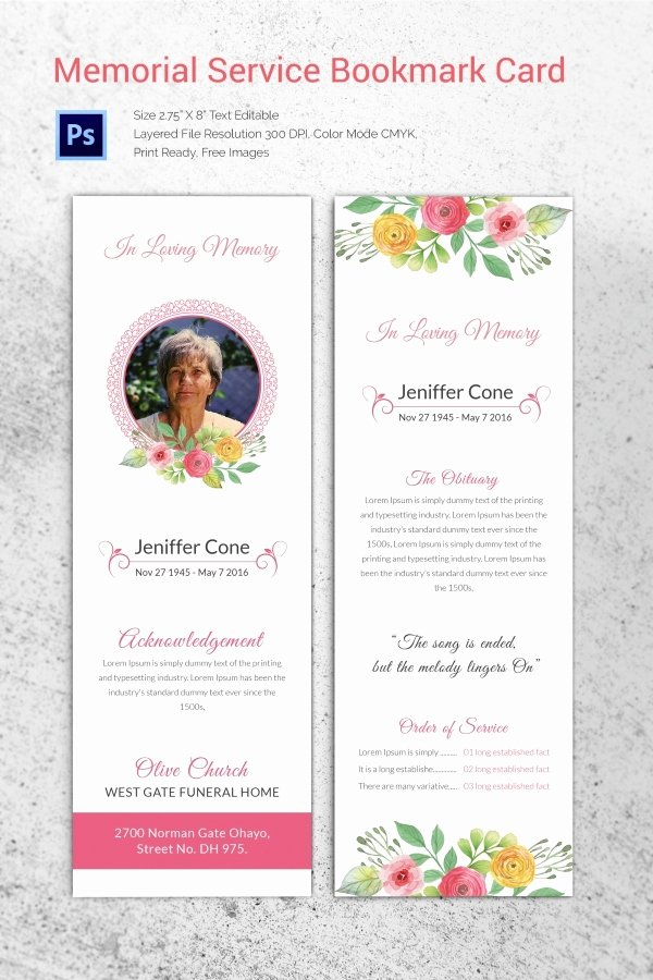 20 Funeral Program Templates – Free Word Excel Pdf Psd