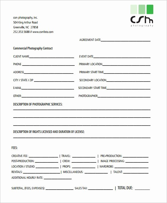 20 Graphy Contract Template