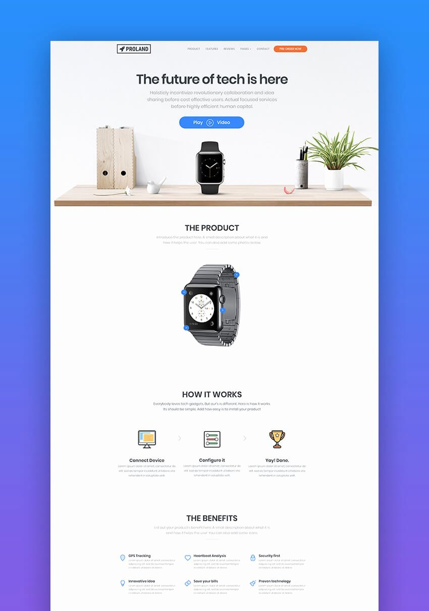 20 Great Product Landing Page Templates 2018 Design