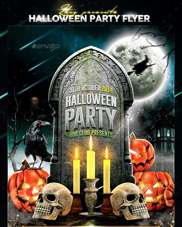 20 Halloween Party Flyer Templates 2017 Psd File