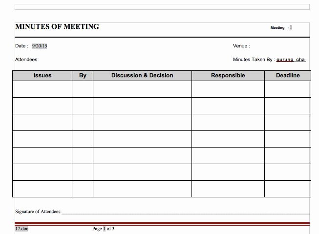 20 Handy Meeting Minutes & Notes Templates Free Template