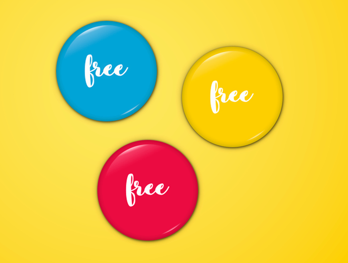20 High Quality Pin button Badges Psd Vector