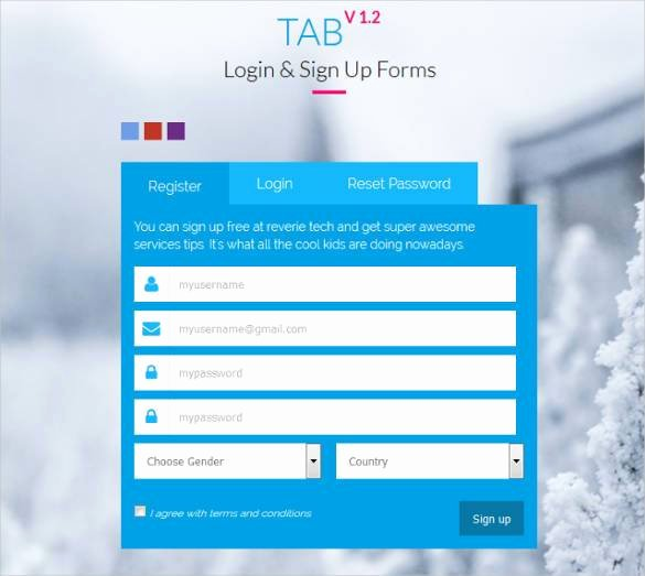 20 HTML5 Signup & Registration forms HTML Css