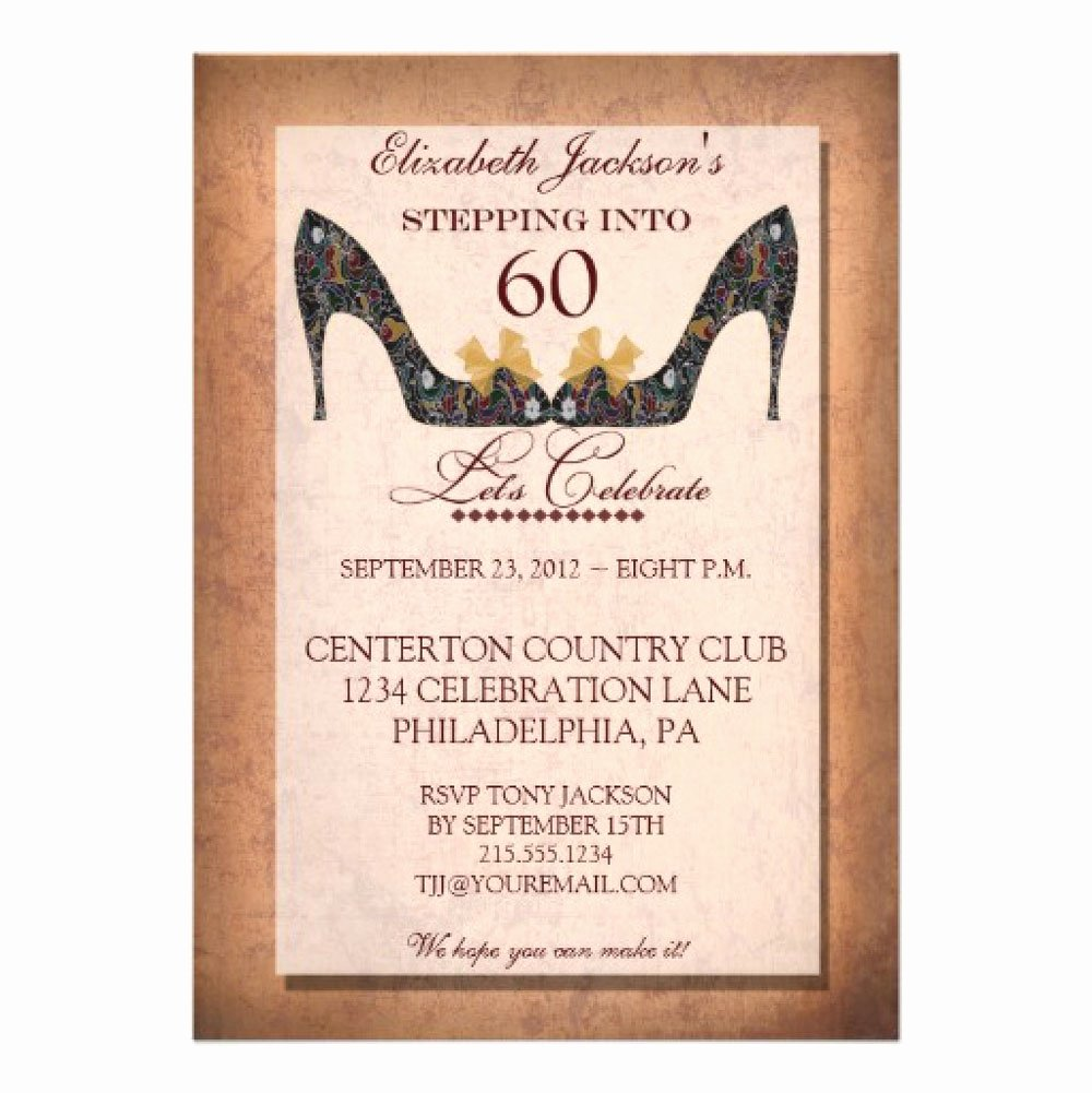 20 Ideas 60th Birthday Party Invitations Card Templates