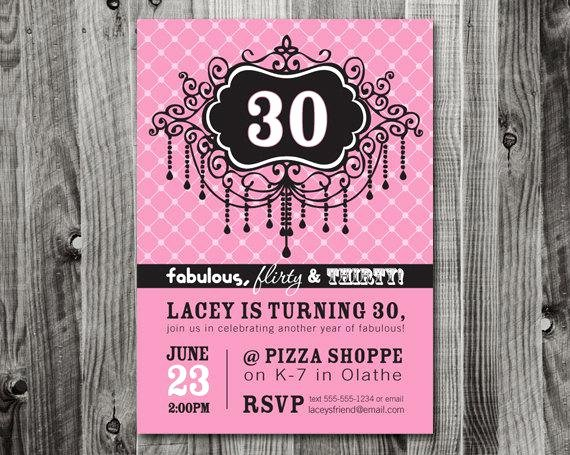 20 Interesting 30th Birthday Invitations themes – Wording